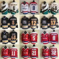 Vintage Washington 5 Rod Langway 21 Maruk 11 Mike Gartner Dale Hunter Ovechkin Jaromir Jagr 37 Kolzig 12 Jeff Friesen Hockey Jersey
