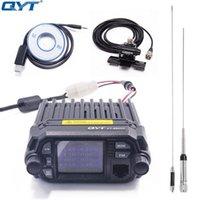 QYT KT-8900D Renkli Mini Araç Montaj Araba Mobil Radyo KT8900D 25 W Quad Ekran Çift Bant UHF / VHF Mobil Transiceve KT 8900D