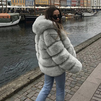 Umeko Women Clothing Faux Fur Coat Women Faux Leather Plus Size Clothing for Women S-4XL Winter Coats fur coats and jackets 201110