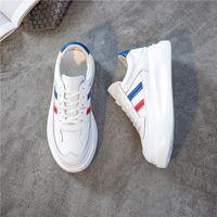 RASMEUP Gerçek Deri Platformu Kadın Beyaz Sneakers 2020 Moda İlkbahar Kadınlar Chunky Ayakkabı Eğitmenler Lady Ayakkabı Puls Boyut