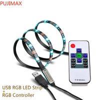 1M 5V USB LED 스트립 5050 블랙 유연한 빛 IP65 방수 30led / M RGB 화이트 블루 TV 배경 조명 스트립 미니 RGB 컨트롤러