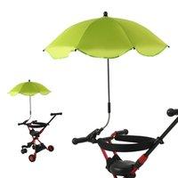 Babywagen Regenschirm Multi Color Einstellbare Wasserdichte Sonnencreme Sonnenschirm Haltbare Legierung Regenschirme Clip Mode Heißer Verkauf 14ly P2