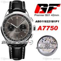 GF PREMIER B01 ETA A7750 Chronographe automatique Montre Homme Montre En acier Cadre Noir AB0118221B1P1 Cuir noir Best Edition 42 PureTime PureTime A1