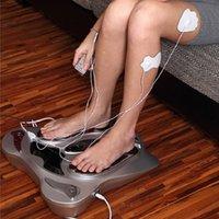 Electro Pie Massager Far infrarrojos Puntos de presión de EMS Máquina de masaje de pies Máquina de reflexología Pies Cuidado Cuerpo Adelgazamiento Cinturón 8 EMS PADS