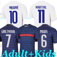 2021 France Mbappe Grizmann Pogba Giroud Men and Kids Kit Jerseys Varane Dembele Kante Hernandez Soccer Jersey كرة القدم قمصان مايلوت دي القدم