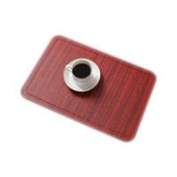 الجدول حصيرة بو الجلود وسادة لتناول الطعام تقليد الخشب الحبوب تحديد الموقع العزل الحراري غير زلة الحديثة المفارش وعاء كوب الوقايات FFB4077