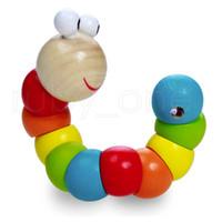 أطفال حشرات مضحكة اللعب خشبية التعليمية متنوعة التواء unchworm لعب الخشب الاستخبارات الطفل diy كتلة لعبة حزب صالح RRA3895