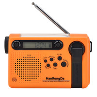 Hanrongda Mini Radio Portable AM FM FM Full Band Disastro Prevention Emergency Stereo Radio Ricevitore Batteria Solar Charging LED Torcia