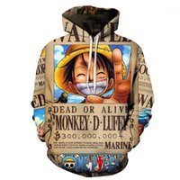 ANIME One Pipe Sweats à capuche 3D Pull Sweat-shirt Sweat-shirt Monkey D Luffy Tracksuit Outfit Casual Outerwear Anime Sweatshirts Hoody1