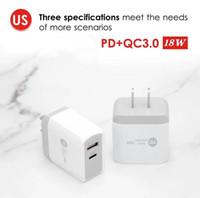 PD 18 W Tip-C Şarj QC3.0 ile Uyarlanabilir Hızlı Şarj USB C Cep Telefonu Çift Bağlantı Noktası Duvar Seyahat Şarj Iphone 12 Samsung S20 S10