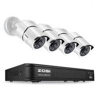 Sistemler ZOSI 4CH AHD CVI TVI CVBS 1080 P Video Gözetim Güvenlik Kameralar Sistemi 2.0MP CCTV Kiti HD-TVI DVR1