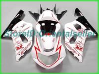 Custom Red White AE039 Kit de Feira para Suzuki GSXR 600 750 K1 2001 2002 2003 GSXR600 GSXR750 01 02 03 Motocicleta Fairings Kit