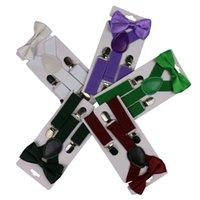 حزام ربطة مجموعة الحلوى اللون أطفال الحمالات مع القوس التعادل قابل للتعديل الفتيات بنين الحمالات البيرة حزام حزب اللوازم 200 قطع T1I3253