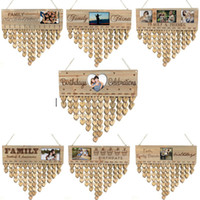 Wooden Family Friends Happy Birthday Calendar With Photo Fra...