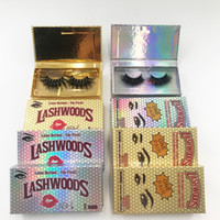 Helle Lashwood Wimple Package Box mit 25mm dramatischen 3D Mink Wimpern Full Strip Wimpernhändler Angekippte Kästchen
