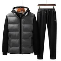 Осень зима повседневная спортивная одежда мужская спортивные костюмы кашемировые толстовки + брюки + жилеты 3 частей набор мужской трексуит негабаритных L-7XL
