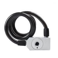 حماية السرقة 39.4 بوصة دراجة قفل بصمة دراجة IP65 للماء مكافحة سرقة مفتاح مع USB شحن كابل الأقفال 1