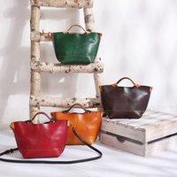 Totes original artesanal vintage vintage vegetal bronzeado bolsa de couro senhoras messenger saco pequeno