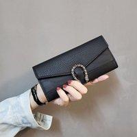 Designer High-End-Handtaschen Brieftaschen Lange PU-Damen Brieftasche Multi-Card-Slots Damen-Taschen 6-Farben, um aus dem Fabrikverkauf zu wählen Kostenloser Versand