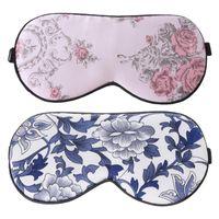 eyeshade 눈 패치 패션 실크 부드러운 잠자는 아이 마스크 꽃 인쇄 잠자는 여행 안경 마스크 붕대 1pc