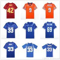 Men's The Waterboy 9 Bobby Boucher Football Football Jerseys Polk 33 Al Bundy 42 Ricky 33 Riggins 69 Billy Bob Moyenne Machine 18 Paul Crewe