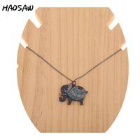 Hanger Kettingen Haosaw Choose Color / Micro Pave Charms / Elephant Necklace / Gekleurde Charme Ketting / Dames Sieraden Maken