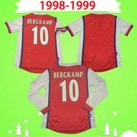 1998 1999 Retro Jerseys de futebol Vivas Bergkamp Anelka 98 99 Classic Overmars Camisas de futebol Kanu Parlor Ljungberg Vintage Camisa de Futebol
