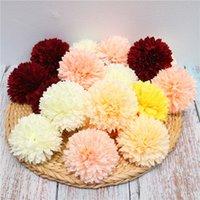 Fleur de soie artificielle Dandelion Head Wall Flower Row DIY avec fleurs Décoration de mariage Fleur Saint Valentin Cadeau