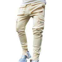 Erkek Cepler Casual Gevşek Kargo Pantolon Erkek Moda Yansıtıcı Spor Fitness Koşu Açık Uzun Pantolon Artı Boyutu Pantolon