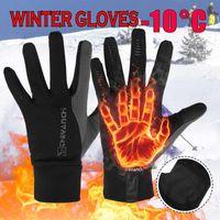 Горнолыжные перчатки с подогревом Водонепроницаемый Зимний Пуховый Теплый Сенсорный Экран против скольжения Спортивная езда Велоспорт лыжах Унисекс