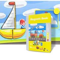 DIY Tridimensional Livro Magnético Puzzle Crianças Educação Educação Enigma Brinquedos Educação Início Crianças Enlightenment Toy