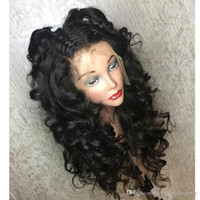 Part 180% Density Deep Wave Natural Black Wigs with Baby Hai...