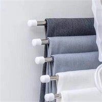 Брюки из нержавеющей стали стеллажи растягивающиеся складные мультиэтажные вешалки для одежды для хранения одежды устойчивые к морщину стойки практичные горячие продажи 4HD F2