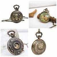 Neue groß ohne hohlen Kompass Taschenuhr Quarz 47mm Halskette Vintage Zubehör Großhandel Mode Mode Uhr Koreanische Pulloverkette