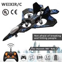 Drones WeXirc LC222 Avião 2.4G 6CH 360 ° Altitude Flip Hover Papel Phantom Remoto Controle Remoto Fighter Quadcopter Plane Aircraf1
