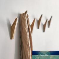 Scarf Wood Holder Natural Wall Decorative Coat Rack Hat Storage Bathroom Mounted Hanger Handbag Key Hanger Clothes Hook Tqasu