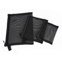 Сумки сетки на молнии, пакет из 3 (S / M / L), косметические аксессуары косметики красоты, организатор туалетных принадлежностей для туалетных принадлежностей.