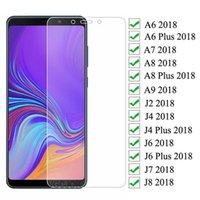 Verre de protection 9D pour Samsung Galaxy A6 A8 J4 J6 plus 2018 J2 J8 A7 A9 Sécurité Verre Verre de sécurité