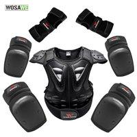 Wosawe Youth Children Enfants Plein Body Protecteur Gilet Pour Enfants Motocross Ski Jacket ToChot Protection Performance Éléversion Épondéraire Bouette Garde-tête Z1128