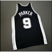 Özel 604 Gençlik Kadın Vintage Tony Parker 911 Yama - Duncan Koleji Basketbol Forması Boyutu S-4XL veya Özel Herhangi bir isim veya numara forma