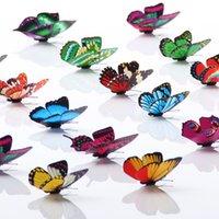Золушка бабочка 3D 3D бабочка мода украшения стены наклейки 3D бабочка PVC съемные высокое качество настенные наклейки LLS757