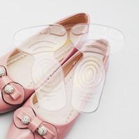 Silicón de 1 par del talón del gel etiqueta engomada desgaste de la forma del zapato suave T taloneras Prueba Anti Slip con Espesar Cojín transparente