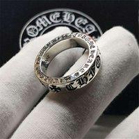 Gioielli in argento sterling anello croce croquet 925