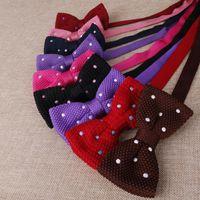 ربطات الرقبة متماسكة ربطة للرجال محبوك حفل زفاف الأعمال عارضة الرجال سهرة القوس و التعادل cravat