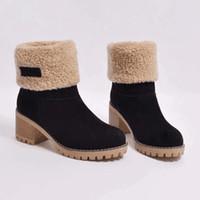 Winter Warme Knöchelschnee Booties Martin Australia Boot Lady Boots Cowboy Bottes Chaussons Schuhe Frauen Große Größe 35--43 mit Opp-Tasche