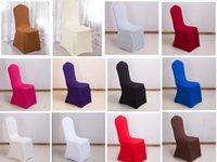 23 farbe Universal Selektive Farbe Stretch Polyester Slipcover für Bankett Speisen Hochzeit Spandex Chair Cover