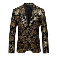 2021 nuovo giacca maschio giacca floreale vestito mens blazer moda a bottone singolo abiti slim fit party blazer plus size M-4XL