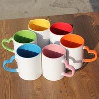 11 унций пустой керамический сублимационный чашкой DIY красочный теплопередача кофе кружка пустой керамический тепловой водой тумблер питьевой виной моря
