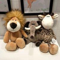 Floresta animal boneca girafa elefante leão boneca atividade de atividade infantil grepplebaby dormindo com brinquedos de pelúcia decoração de brinquedos com.