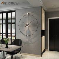 Yeni Ferforje Duvar Saati Ev Dekorasyon Ofis Büyük Duvar Saatleri Monte Dilsiz İzle Avrupa Modern Tasarım Asılı Saatler Z1207